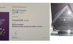 """Získali sme ocenenie Microsoft Awards 2018 / Finalist za projekt """"Digital Checklist: Kontrola kvality výroby ako služba v Cloude"""""""